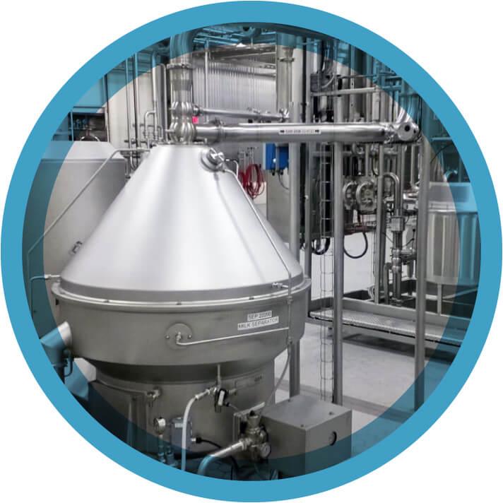 A separation tank at Cayuga Milk Ingredients